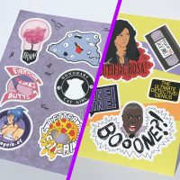 sticker sheet bundle angelkat 1 and b99