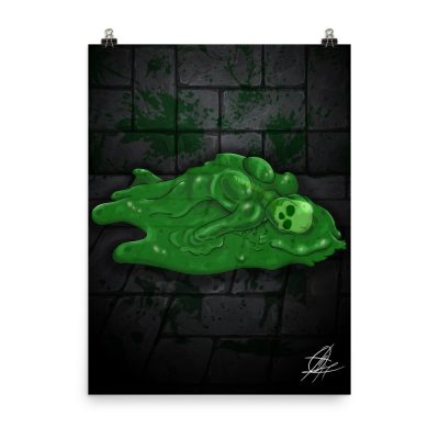 Slime Girl Horror Art Print