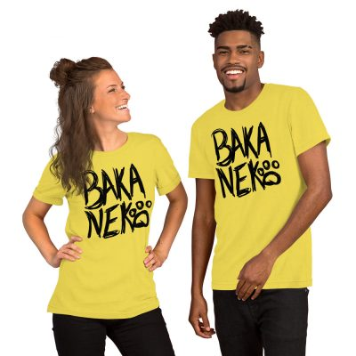 Baka Neko Unisex T-Shirt (Yellow)