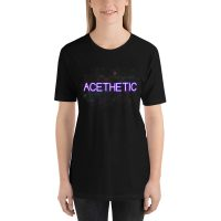 Acethetic: Aesthetic Asexual Unisex T-Shirt (Black)