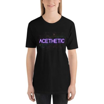 aesthetic asexual aces tshirt black