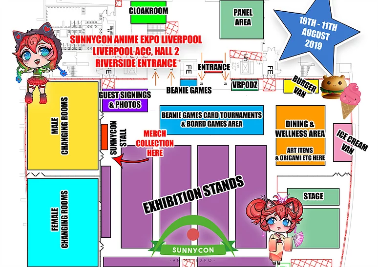 SunnyCon Anime Expo Liverpool General Layout
